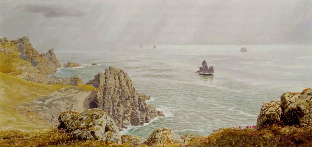 SSummer Mists At Tol Pedn | John Brett | oil painting