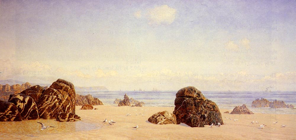 These Yellow Sands | John Brett | oil painting