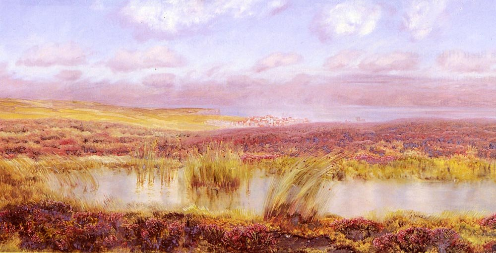 A View Of Whitby From The Moors | John Brett | oil painting
