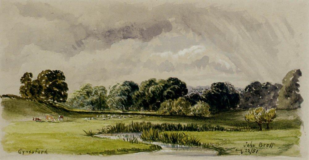 TEynesford   John Brett   oil painting