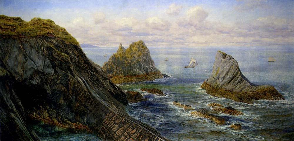 A Coastal Landscape | John Brett | oil painting