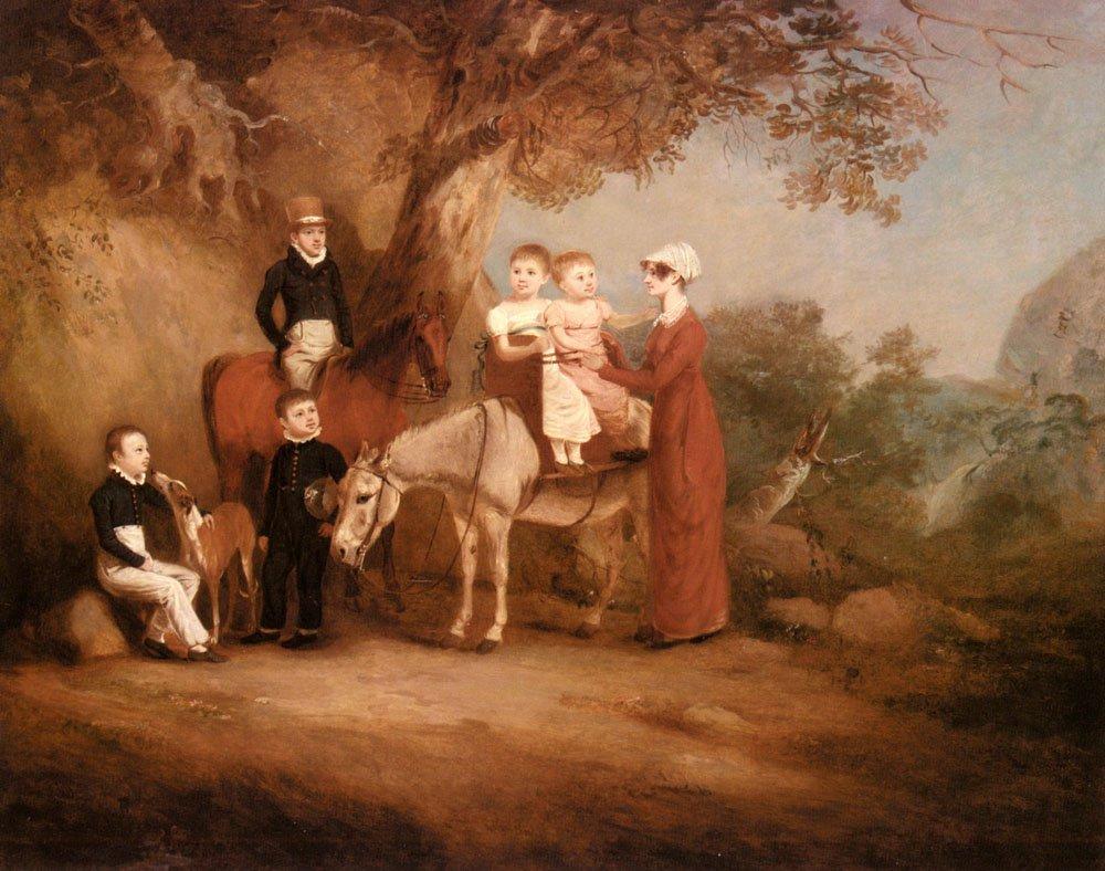 The Marriott Family | John Ferneley Snr | oil painting