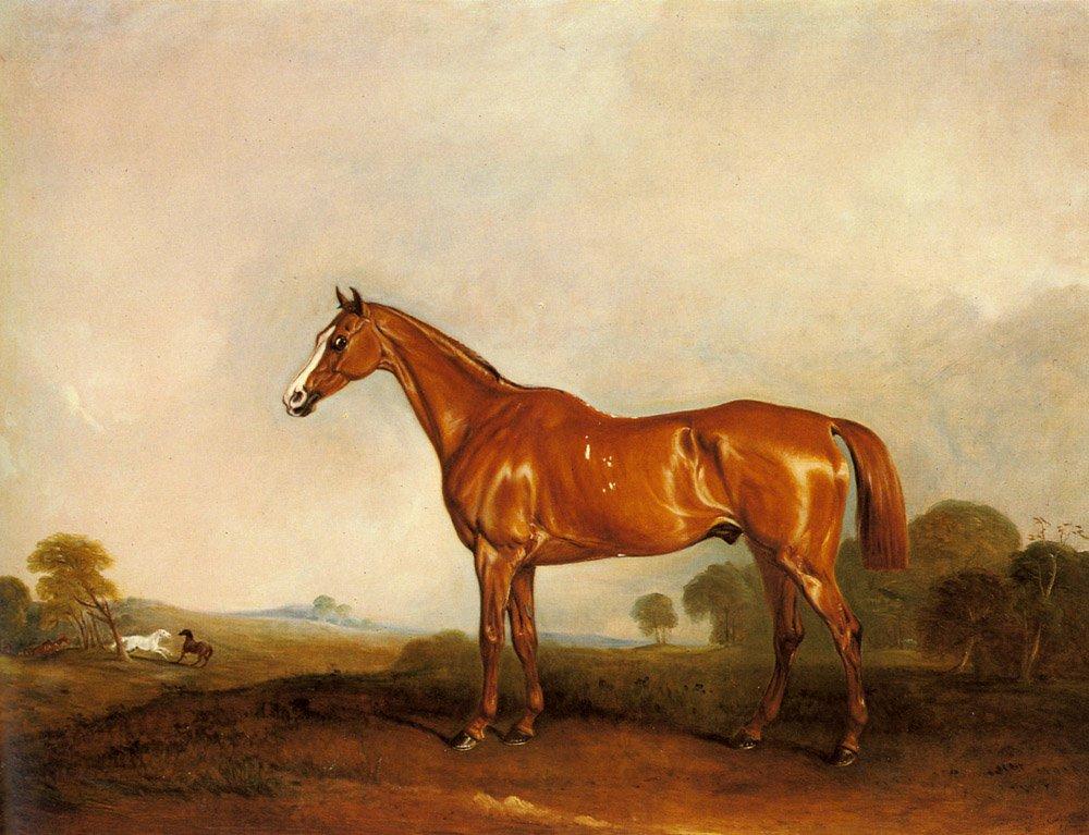 A Chestnut Hunter in a Landscape | John Ferneley Snr | oil painting