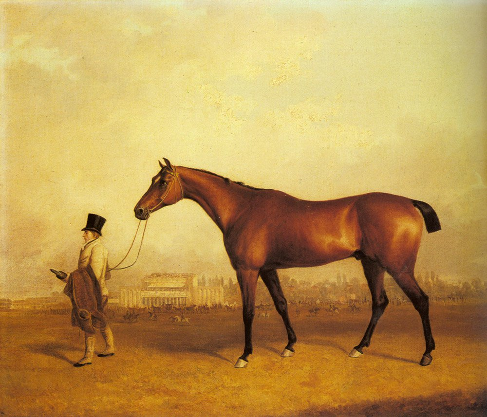 Emlius Winter of the 1832 Derby held by a Groom at Doncaster | John Ferneley Snr | oil painting