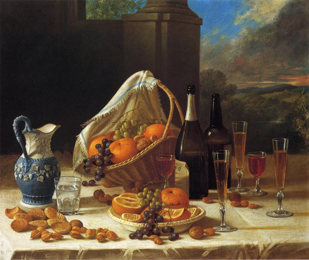Luncheon Still Life 1860 | John Francis | oil painting