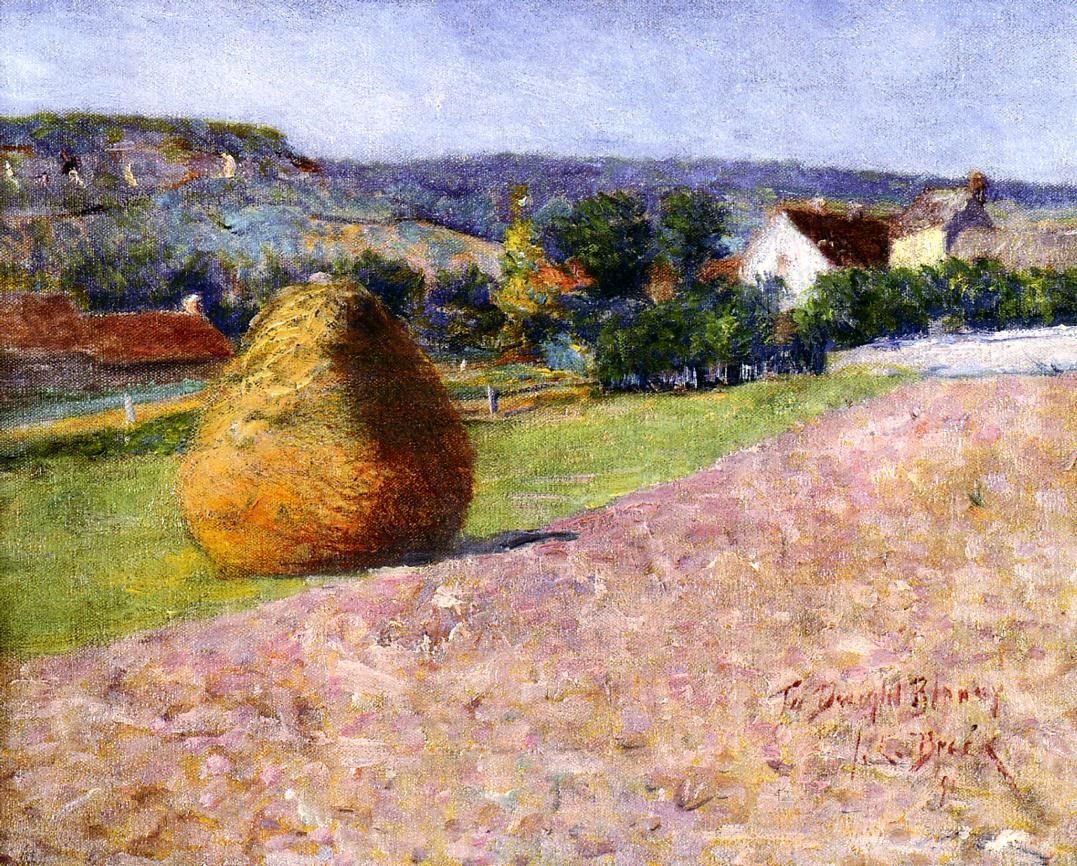 Grainstack Giverny 1891 | John Leslie Breck | oil painting