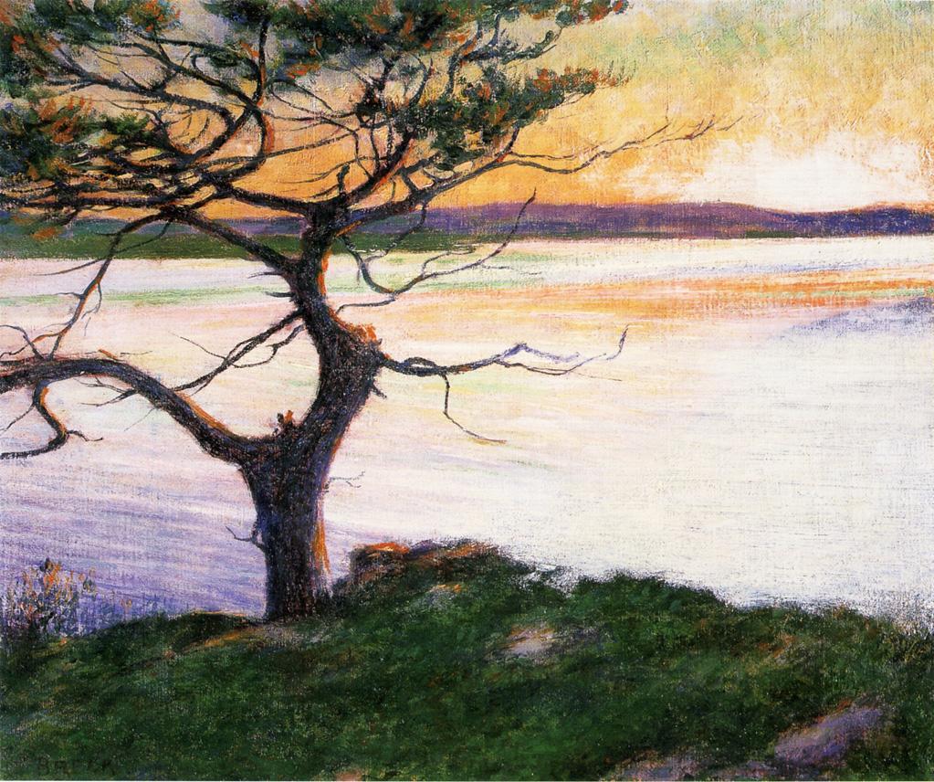 View Across Ipswich Bay Near Cambridge Beach 1894 | John Leslie Breck | oil painting