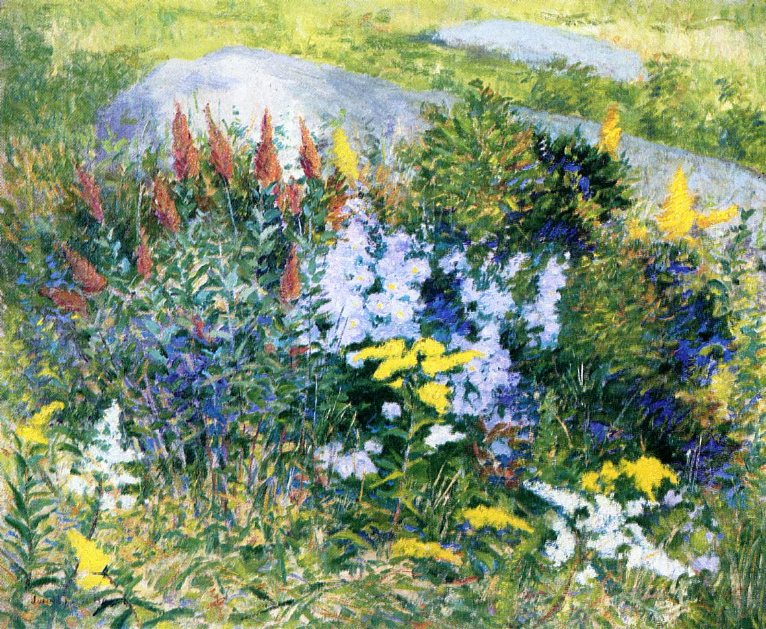 Rock Garden at Giverny 1887 | John Leslie Breck | oil painting