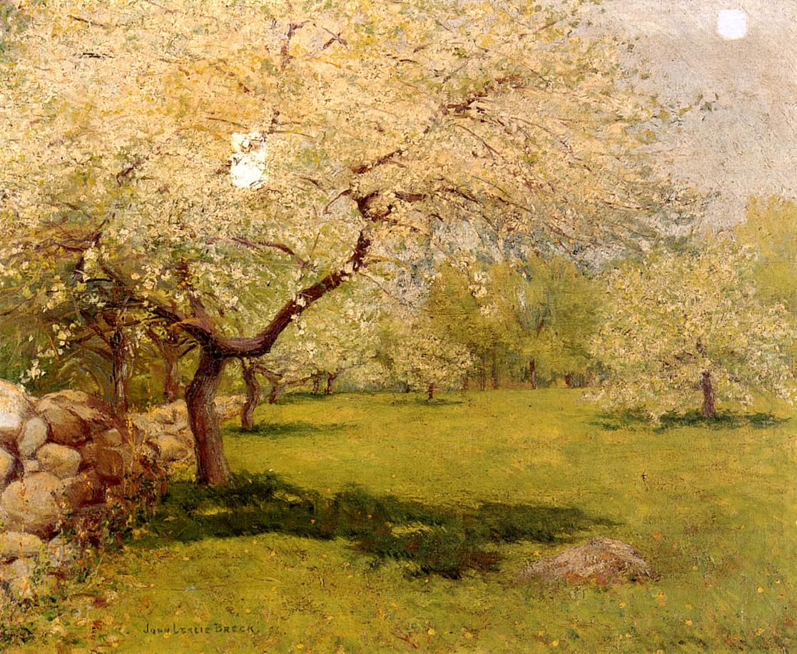 Apple Blossoms 1896 | John Leslie Breck | oil painting