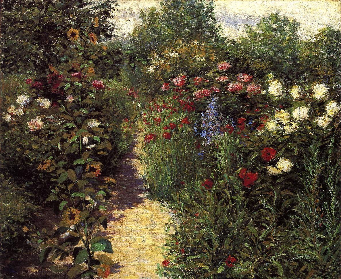 Garden at Giverny 1887 | John Leslie Breck | oil painting