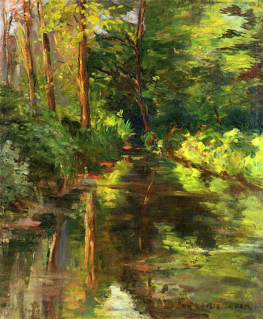 The River Ept 1887   John Leslie Breck   oil painting