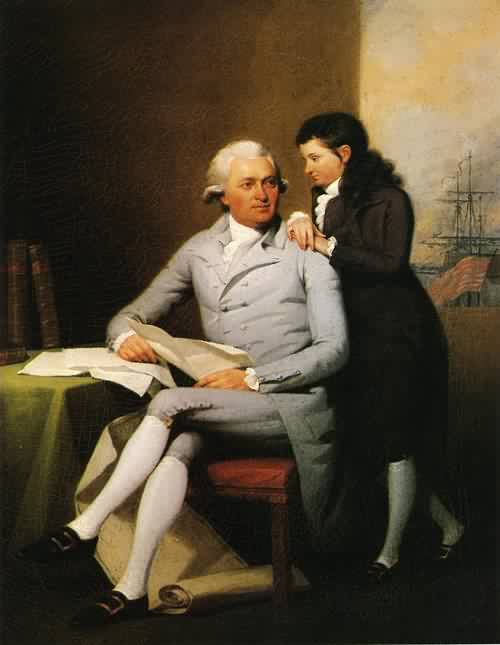 Jeremiah Wadsworth and His Son Daniel Wadsworth 1784 | John Trumbull | oil painting