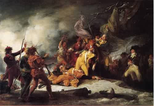 The Death of General Montgomery in the Attack on Quebec December 31 1775 1786 | John Trumbull | oil painting
