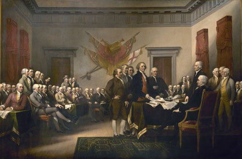 The Declaration of Independence 1787 1820 | John Trumbull | oil painting