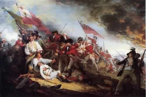 The Death of General Warren at the Battle of Bunker's Hill 1786 | John Trumbull | oil painting