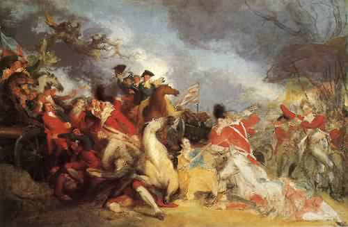 The Death of General Mercer at the Battle of Princeton unfinished version 1786 1788   John Trumbull   oil painting
