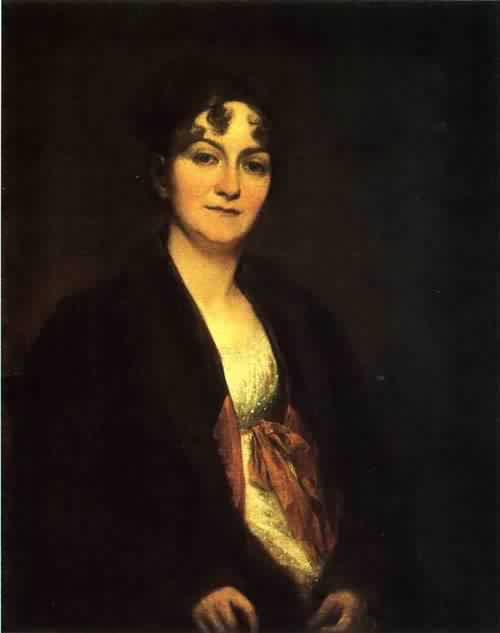 Sarah Elizabeth Rogers Hopkins 1805 | John Trumbull | oil painting