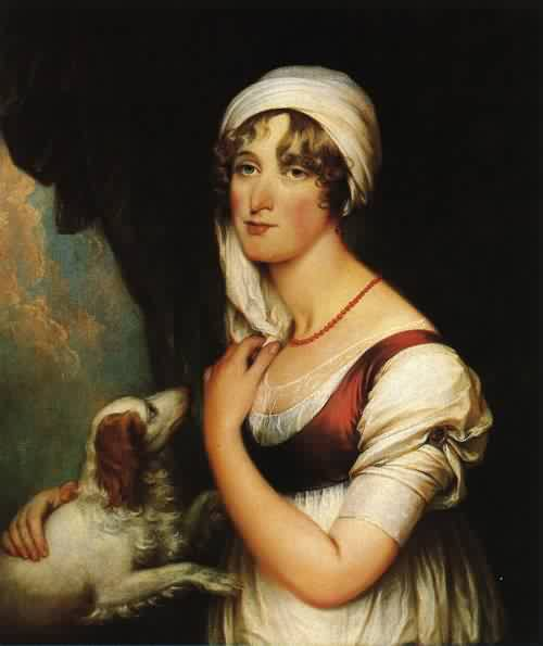 Sarah Trumbull with a Spaniel 1802 | John Trumbull | oil painting