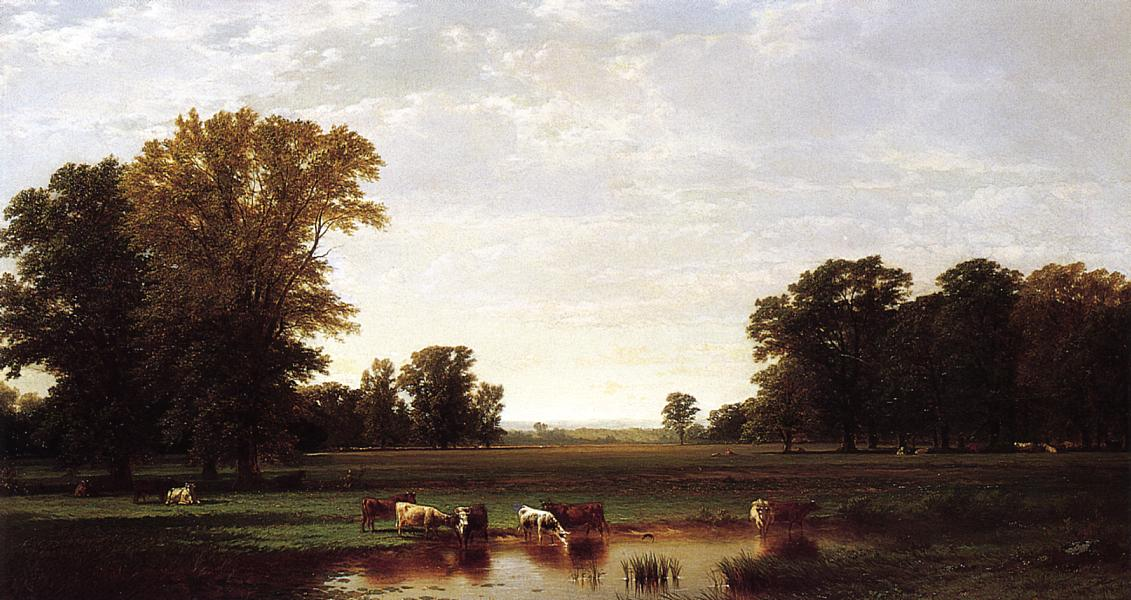 Genesee Meadows 1870 | John W. Casilear | oil painting