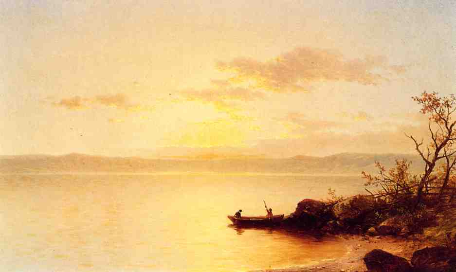 Lake at Sunset 1863 | John W. Casilear | oil painting