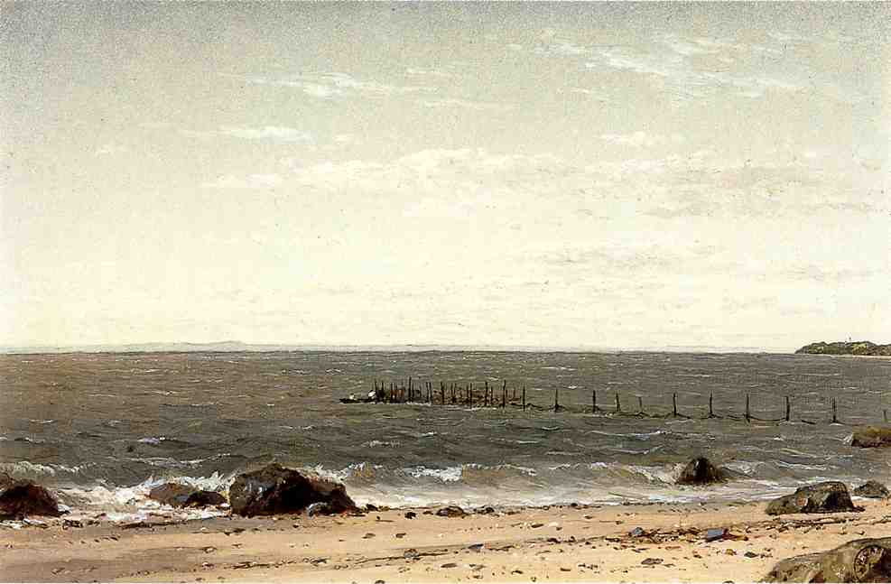 New England Beach Scene No dates listed | John W. Casilear | oil painting