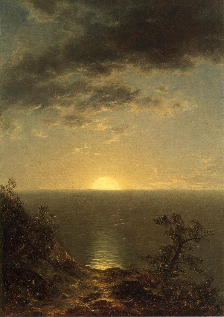 Moonrise on the Coast 1863   John W. Casilear   oil painting