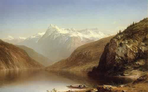 Mountain Lake 1861 | John W. Casilear | oil painting