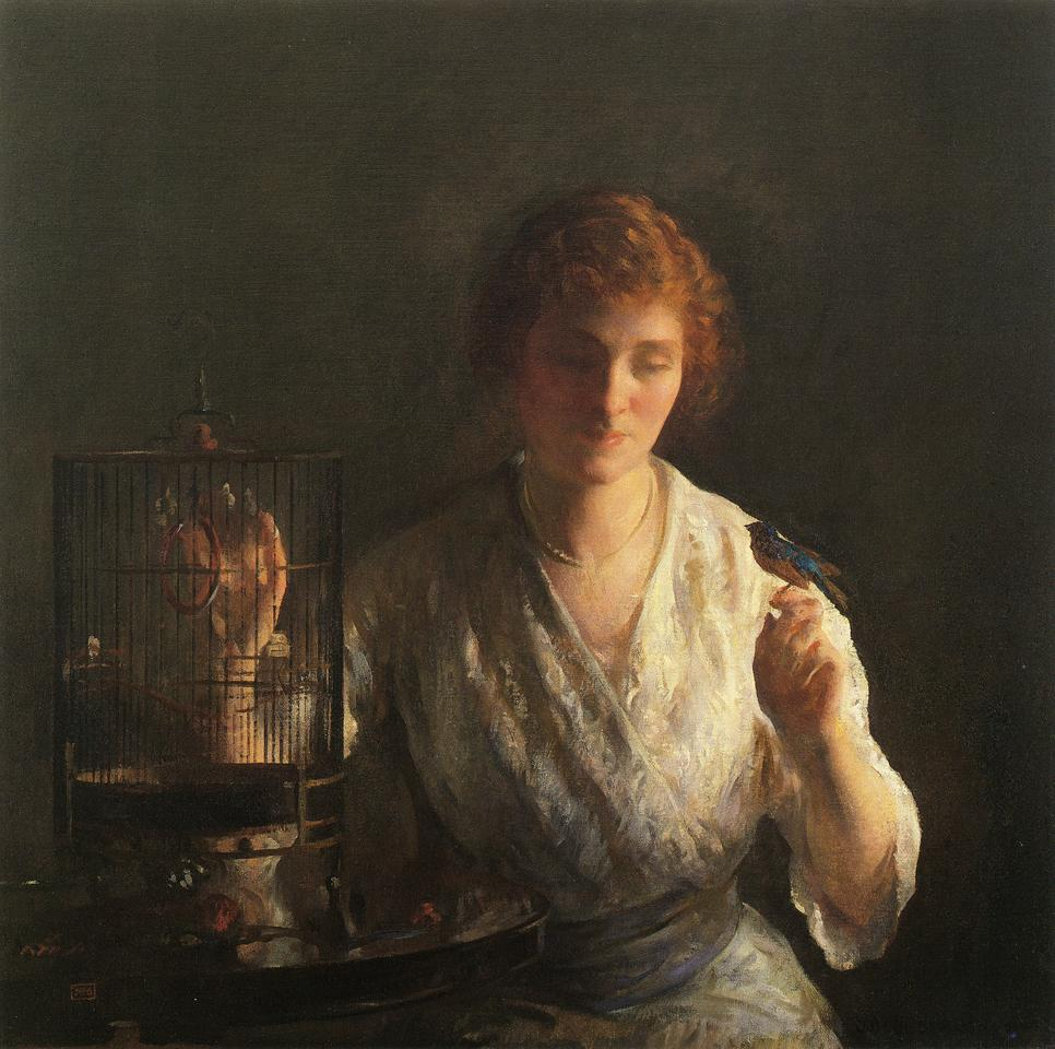 Blue Bird 1919 | Joseph deCamp | oil painting