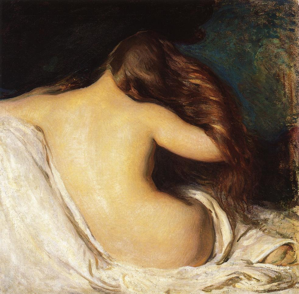 Woman Drying Her Hair 1899 | Joseph deCamp | oil painting