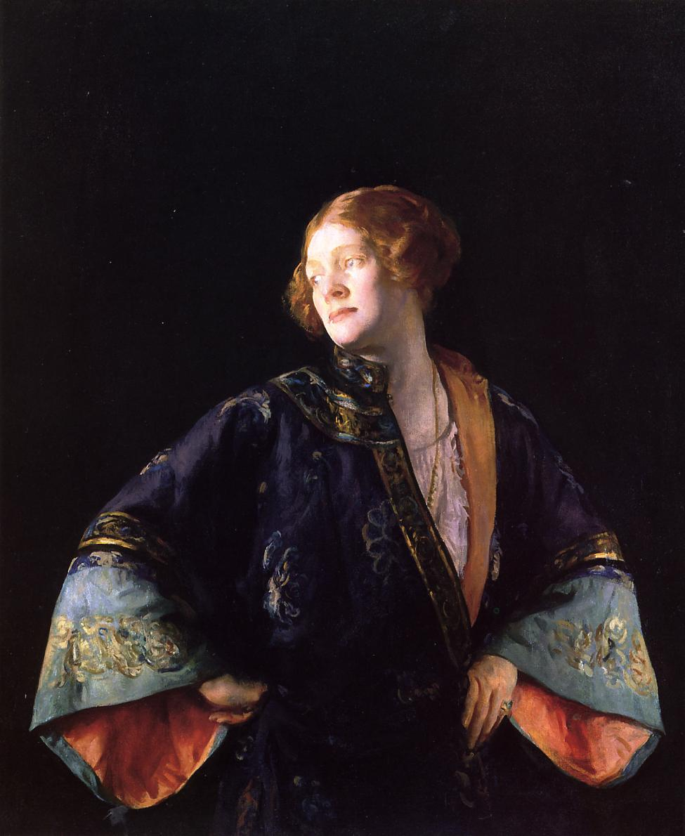 The Blue Mandarin Coat aka The Blue Kimono 1922 | Joseph deCamp | oil painting