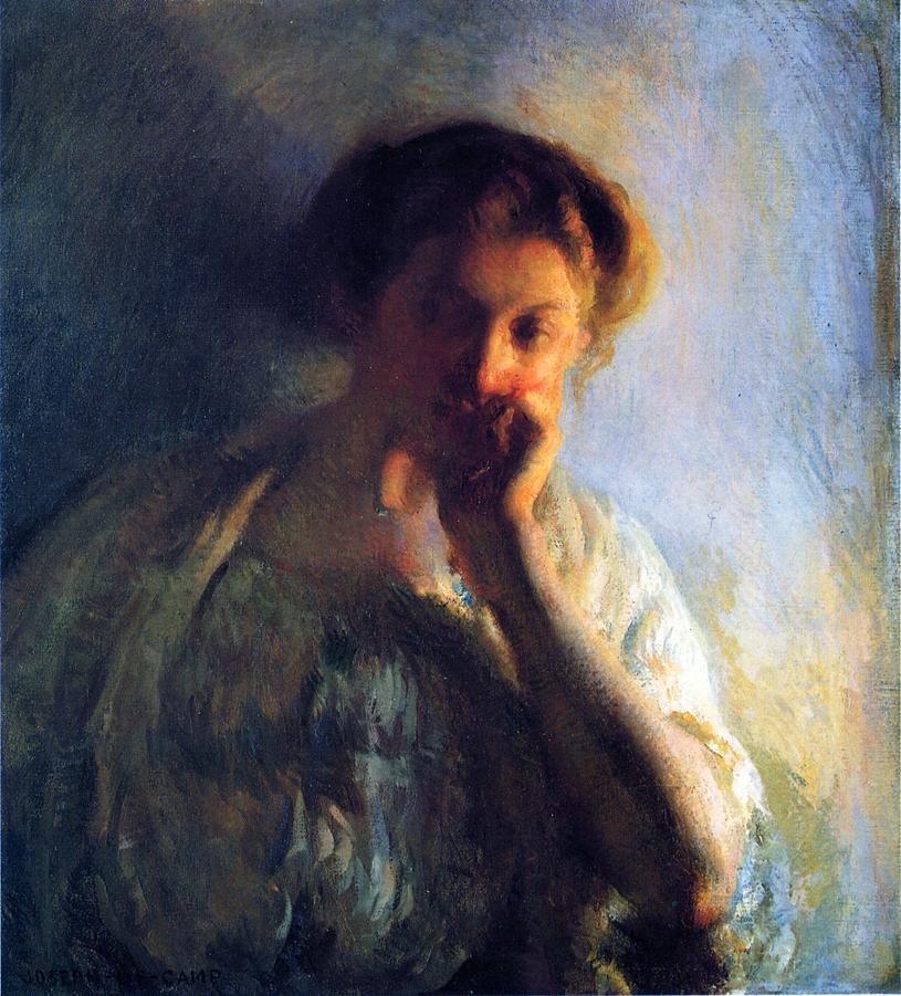 La Penserosa 1904 1908 | Joseph deCamp | oil painting