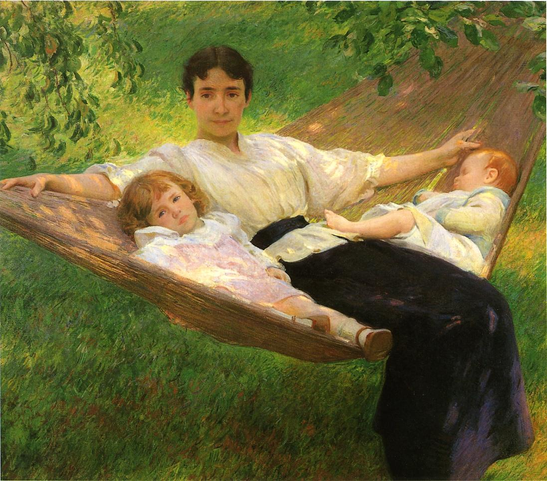 The Hammock 1895 | Joseph deCamp | oil painting