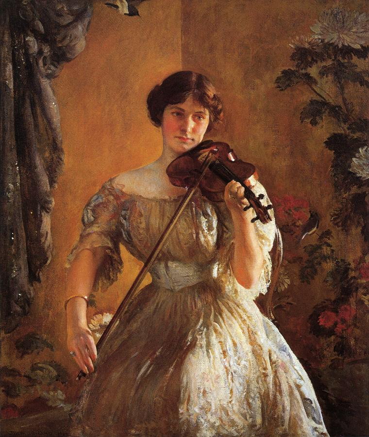 The Kreutzer Sonata aka Violinist II 1912 1914 | Joseph deCamp | oil painting