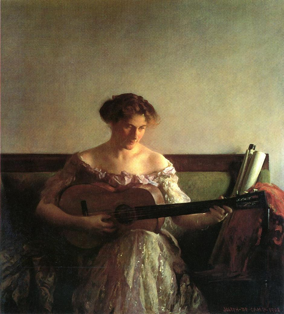 The Guitar Player 1908 | Joseph deCamp | oil painting