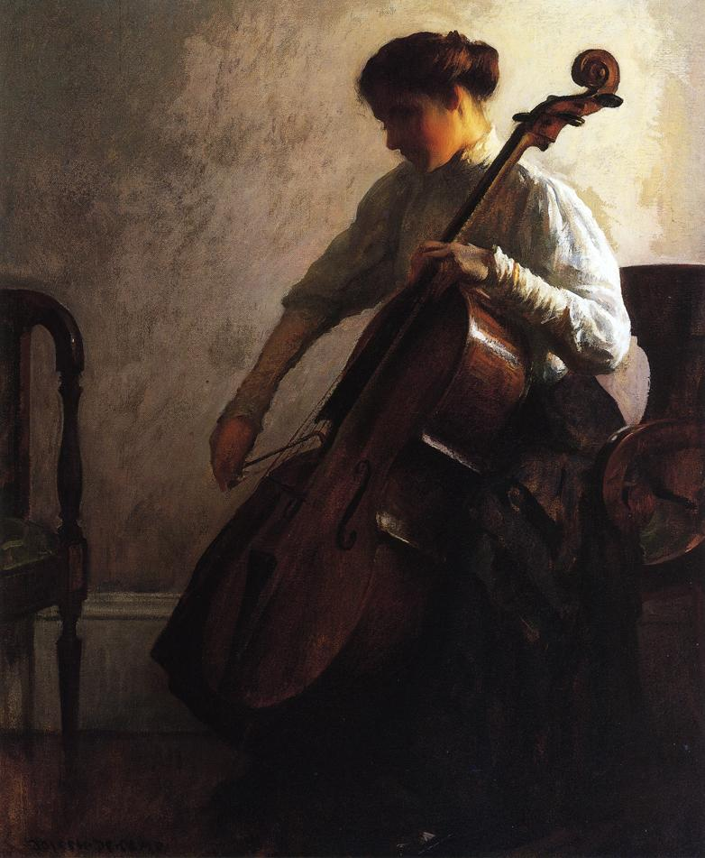 The Cellist 1908 | Joseph deCamp | oil painting
