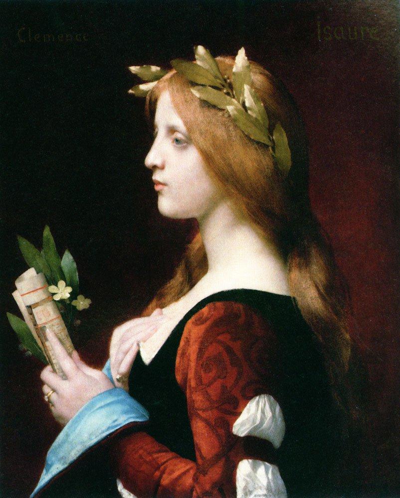 Clemence Isaure | Jules Joseph Lefebvre | oil painting