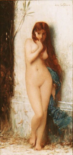 Variation on La Cigale | Jules Joseph Lefebvre | oil painting