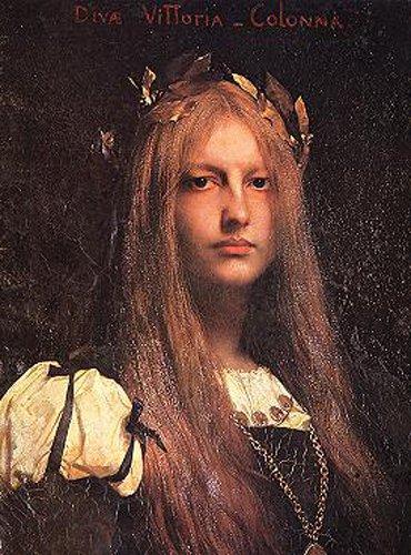Diva Vittoria Colonna | Jules Joseph Lefebvre | oil painting
