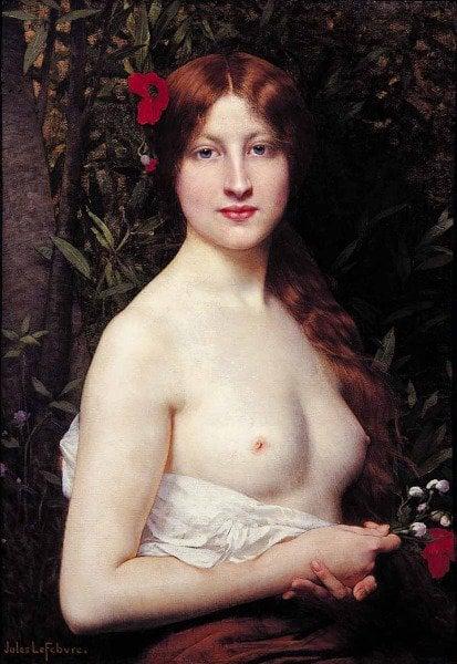 Fleurs des Champs | Jules Joseph Lefebvre | oil painting