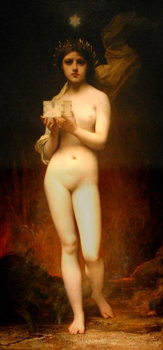 Pandora | Jules Joseph Lefebvre | oil painting