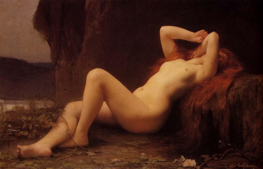Mary Magdalene In The Cave | Jules Joseph Lefebvre | oil painting
