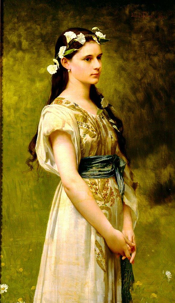 Portrait of Julia Foster Ward | Jules Joseph Lefebvre | oil painting