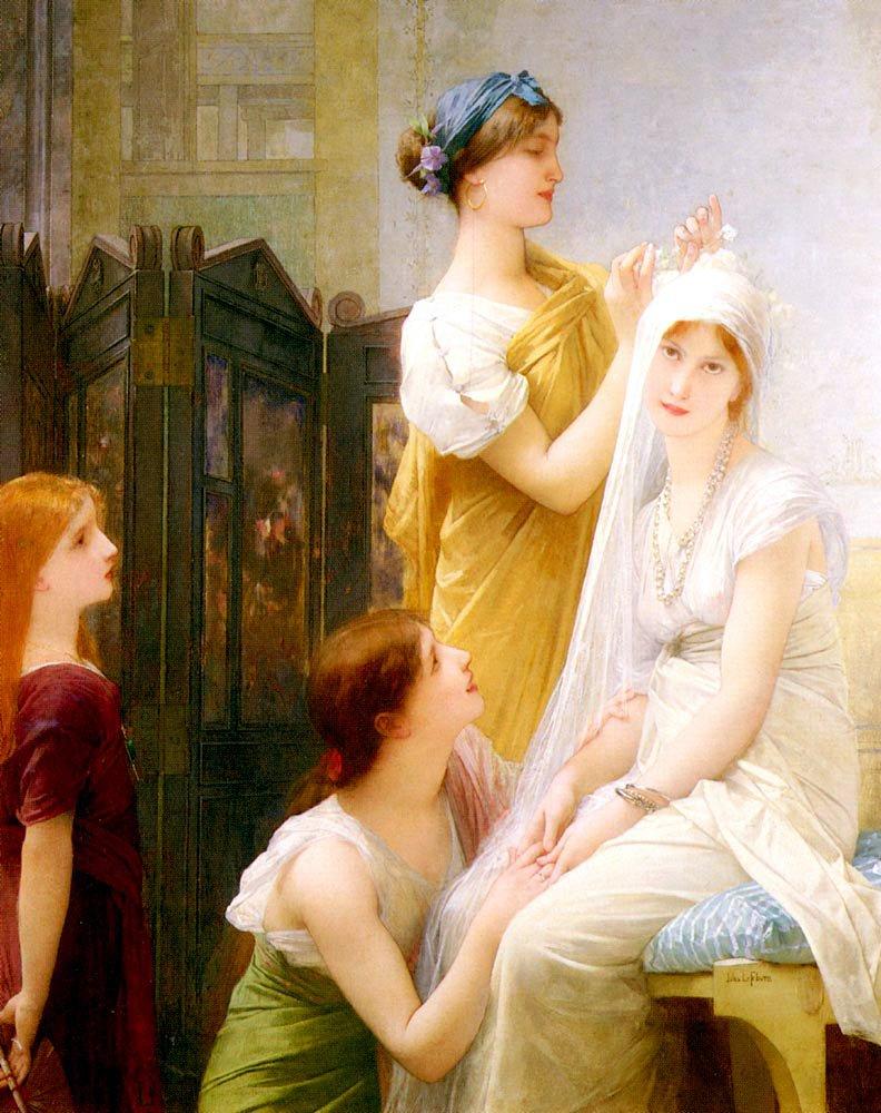 La Fiancee | Jules Joseph Lefebvre | oil painting