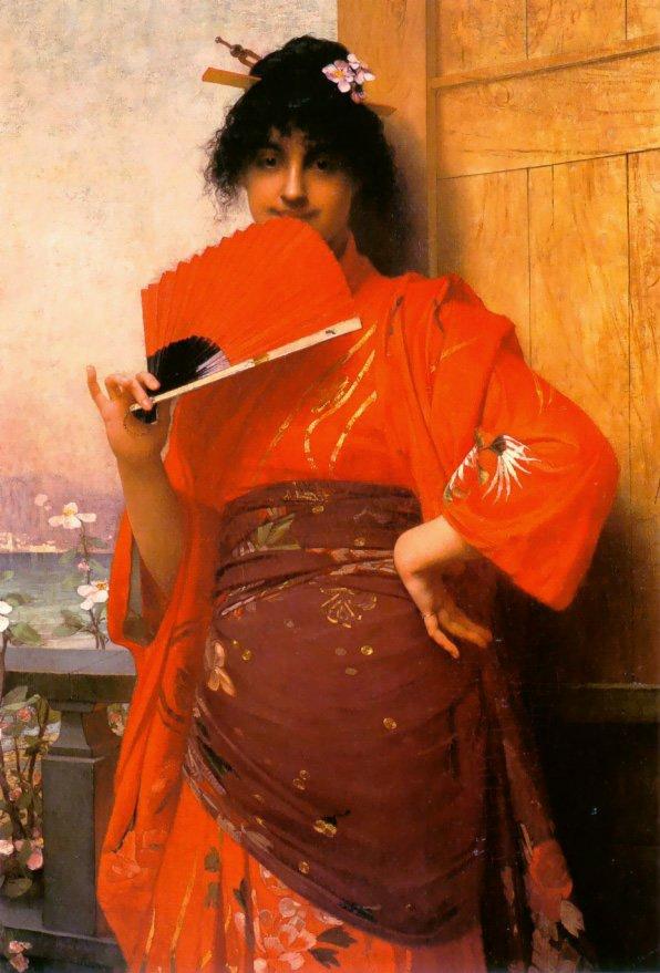 Japonaise | Jules Joseph Lefebvre | oil painting
