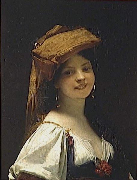 La jeune rieuse | Jules Joseph Lefebvre | oil painting