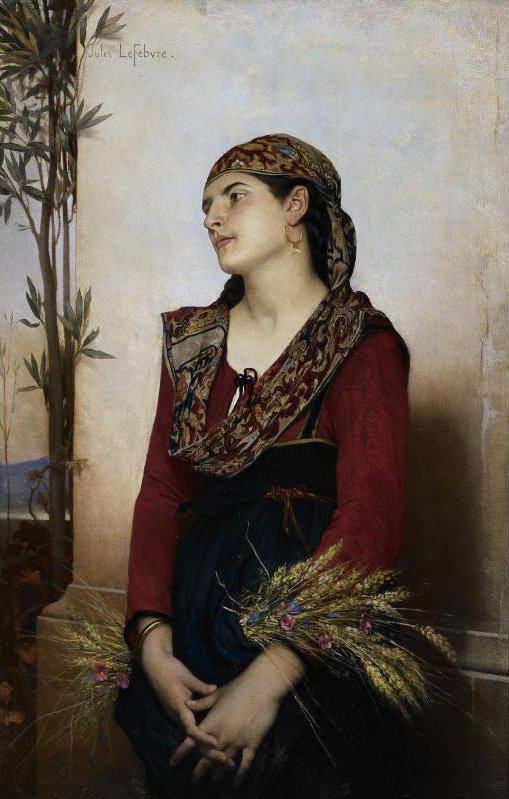 Mediterranean Beauty | Jules Joseph Lefebvre | oil painting