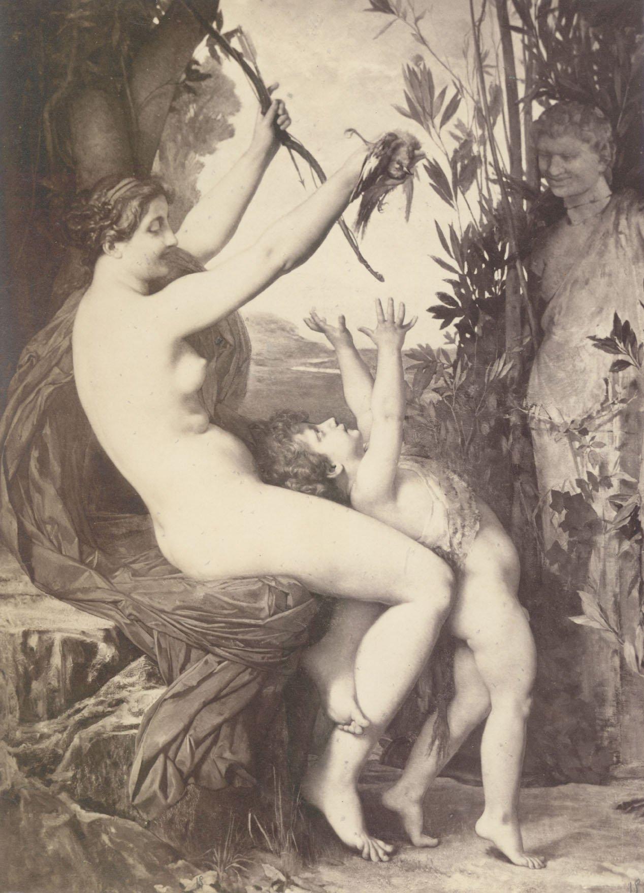 Nymph et Bacchus | Jules Joseph Lefebvre | oil painting