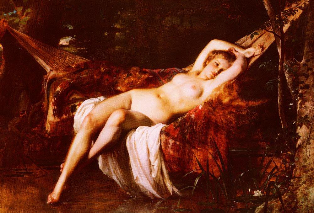 La Baigneuse 1875 | Leon Bazile Perrault | oil painting