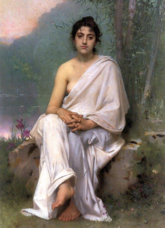 Meditation 1893 | Leon Bazile Perrault | oil painting