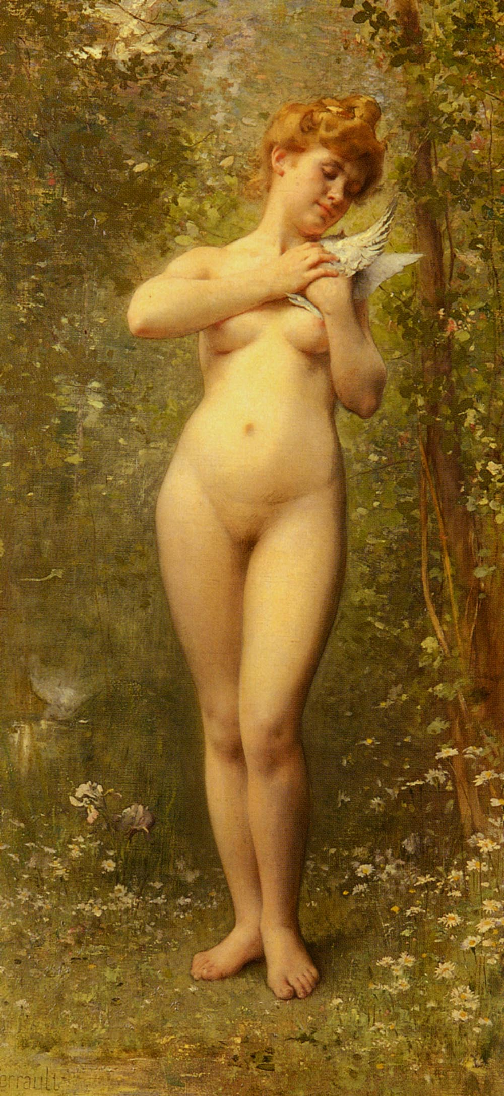 Venus A La Colombe 1902 | Leon Bazile Perrault | oil painting